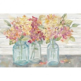 Farmhouse Hydrangeas in Mason Jars Spice