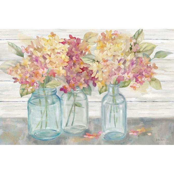 Farmhouse Hydrangeas in Mason Jars Spice