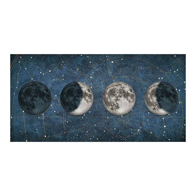Cuadro Fases de la Luna AZUL