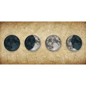 Cuadro Fases de la Luna DORADO