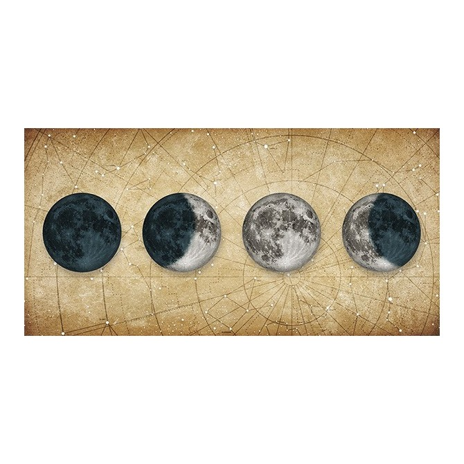 MFZ-0030 Cuadro Fases de la Luna DORADO