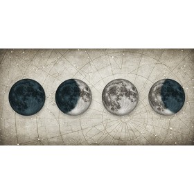 Cuadro Fases de la Luna BLANCO
