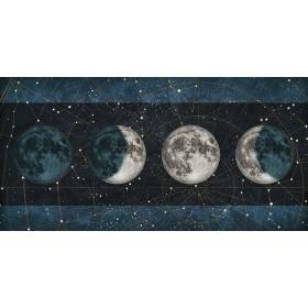 MFZ-0028 Cuadro Fases de la Luna NOCHE con barras AZUL