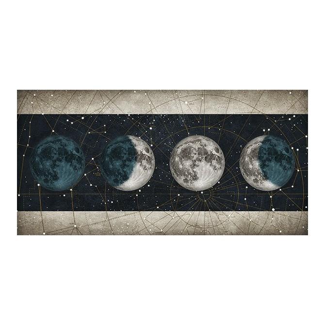 MFZ-0025 Cuadro Fases de la Luna NOCHE con barras BLANCO