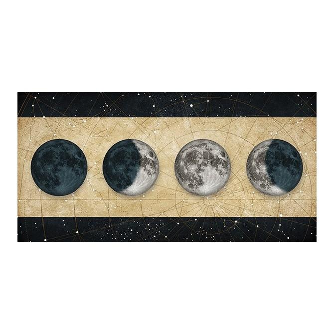 Cuadro Fases de la Luna DORADO con barras NEGRO