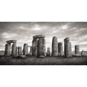 MFZ-0016 Cuadro Ilustración Stonehenge BLANCO Y NEGRO
