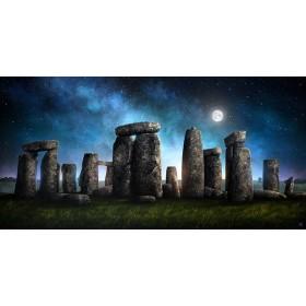 MFZ-0015 Cuadro Ilustración Stonehenge NOCHE