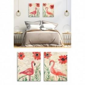 J2-M05-Postcard Flamingo 2 - Contiene 2 cuadros