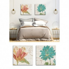 Conjunto 2 Cuadros Flores - Bookshelf Botanical III