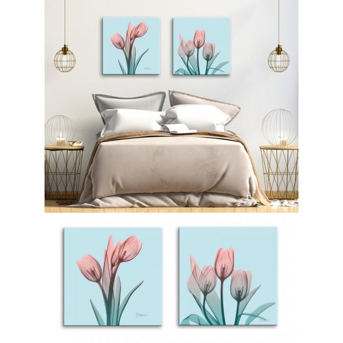 Juego 2 Cuadros Flores - Awakening Tulips