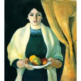 Portrait with apples (portrait of the wife of the artist) by Macke