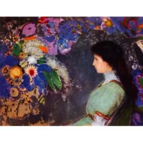 Portrait of Violet Heymann by Odilon Redon