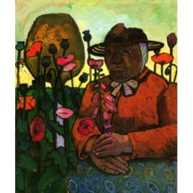 Old Woman in  the garden by Paula Modersohn-Becker