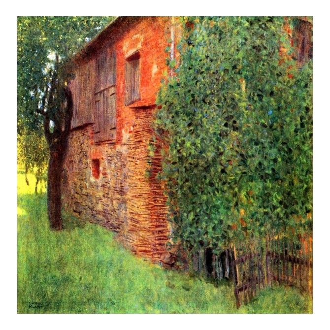 Farmhouse in Chamber in Attersee by Klimt