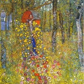 Farmers garden with crucifix by Klimt