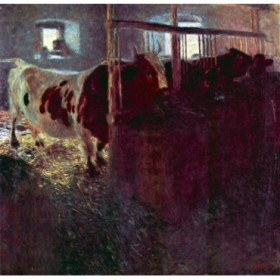 Cows in Stall by Klimt