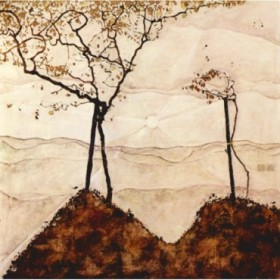 Autumn sun and trees by Schiele