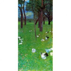 After the rain (garden with chickens in St. Agatha) by Klimt