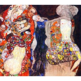 Adorn the bride with veil and wreath by Klimt