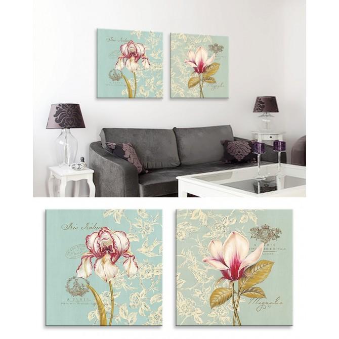 J2-M00-Juego de 2 Lienzos Toile Iris - Toile Magnolia