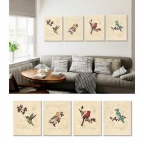 J4-M05-Juego de 4 Lienzos Filigree Hummingbird -Songbird -Cardinal -Jay