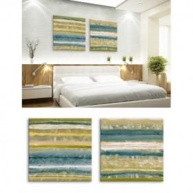 Juego de 2 cuadros abstractos Woodlands