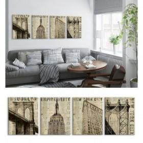 J4-M05-Juego de 4  Vintage NY Brooklyn-NY Empire State-NY Flat Iron-NY Manhattan