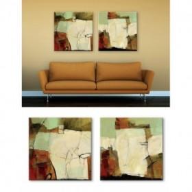 Juego de 2 Lienzos Abstractos - Cuadro Study No. 126 y 124