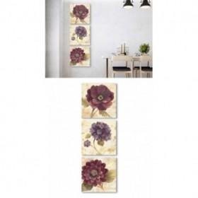 J3-M00-Juego de 3 Lienzos Vertical - Abundant Floral - Abundant Hydrangea I