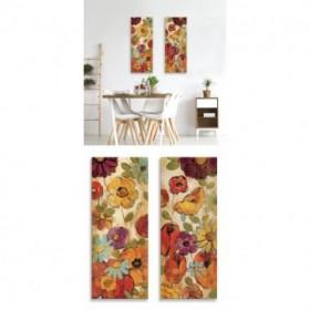 J2-M09-Juego de 2 lienzos- Floral Sketches on Linen