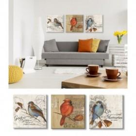 J3-M00-Juego de 3 lienzos- Red Love Birds