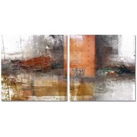 J2-M00-Cuadro Abstracto Manchas 05- 2 Lienzos de 50x50cm/u