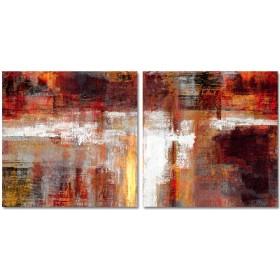 Cuadro Abstracto Manchas 03- Díptico 2 piezas de 60x60cm/u