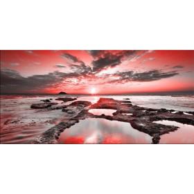 Cuadro 19105542-R / Amanecer en la playa rojo