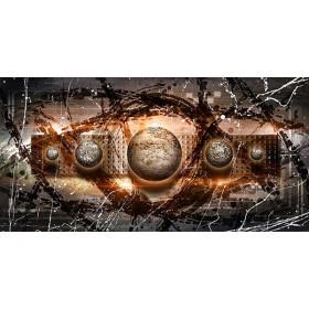 EMO-009 Cuadro Esferas con Destellos Naranja