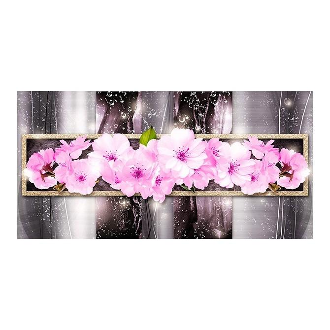 EMO-007 Cuadro Metalizado con Flores