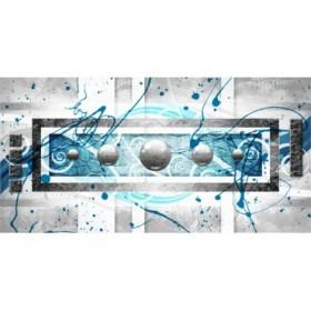 EMO-001 Cuadro Esferas Metal sobre Azul