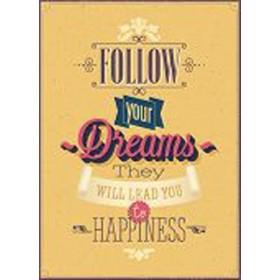 """50973263-Vintage """"Follow your Dreams"""" Poster. 7 tamaños disponibles"""