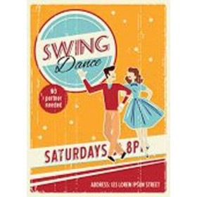 46441213-Poster Swing Dancers Party. 7 tamaños disponibles