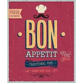 49914404-Vintage Bon Appetit Poster. 7 tamaños disponibles