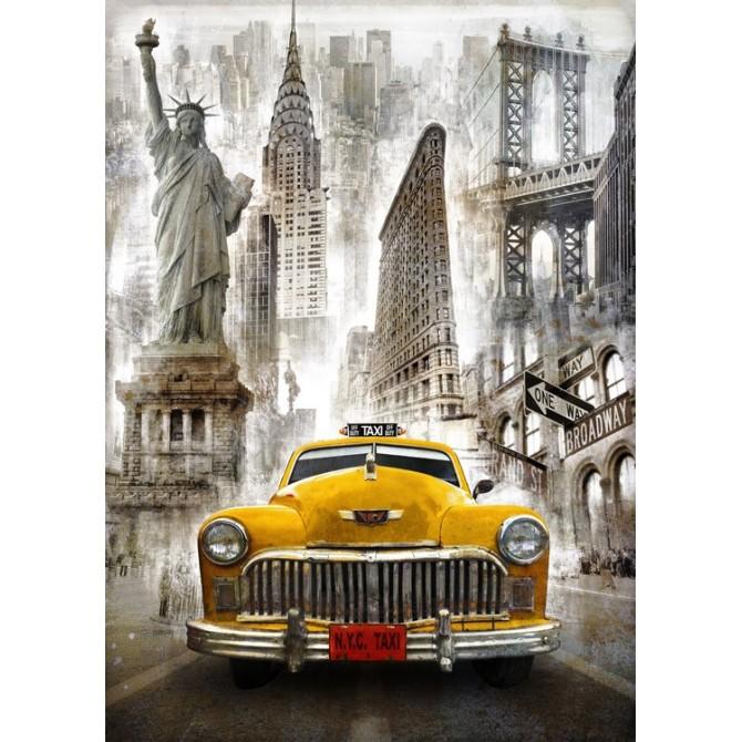 BRS-010-Cuadro Taxi New York