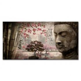 LH-2018.1 Cuadro Paisaje con Buda y Letras Japonesas
