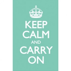 Keep Calm and Carry On Verde Pastel.