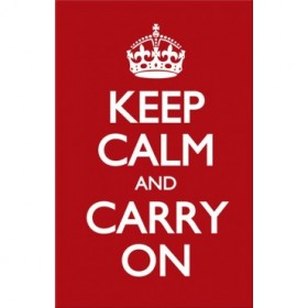 Keep Calm and Carry On Rojo.