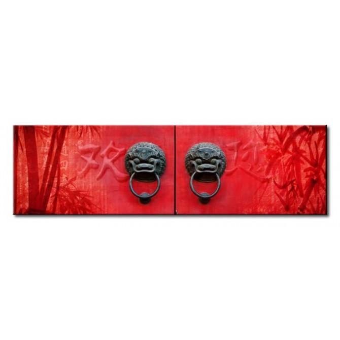 Cuadro Red Door 140x40