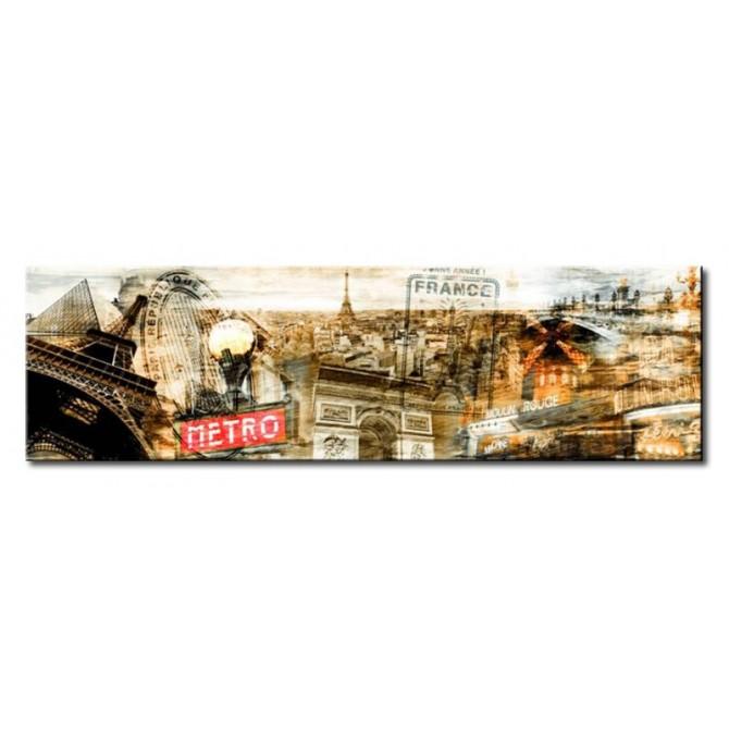 Cuadro Collage Paris 01 140 x 40