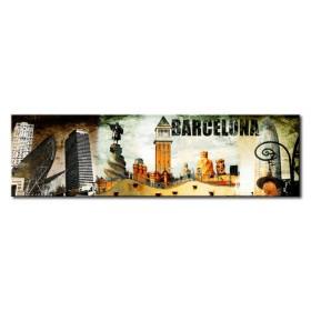 Cuadro Barcelona Collage 02 140 x 40