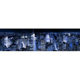 32249751 A / Cuadro Manhattan por la noche azul 140x40