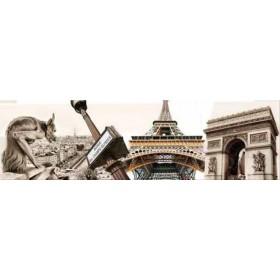 29218864 / Cuadro Grandes monumentos Paris 140 x 40