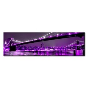 26961609_X / Cuadro Puente Brooklyn violeta 140 x 40